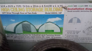 Agricultural Building 65' x 30' x 15 Dome Structure