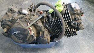 Yamaha XT550 motor with kick start lever
