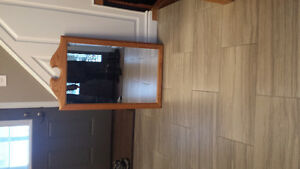 Solid oak mirror Cambridge Kitchener Area image 1