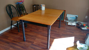 100% real Canadian wood dining room table set