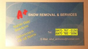 A Plus Snow Removal and Home Services Cambridge Kitchener Area image 1