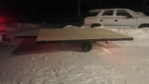 8x10 Tilt-deck Snowmobile Trailer - Completely Redone!