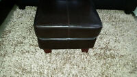 leather style ottoman - delivery available