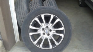 4 All Season tires and ally rims for volvo  235/60/18