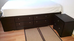 12 drawer  Queen size Bed (mattress not included)