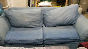 Blue Couch - with pull out bed