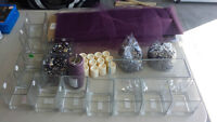 Purple Wedding center piece items as pictured