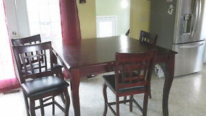 Bar style table and chairs