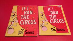▀▄▀Dr. Seuss 2 Books IF I RAN THE CIRCUS/HC DJ & PB/1956/