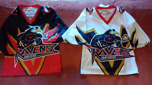 Vancouver Ravens Home and Away Lacrosse jerseys (Brine)