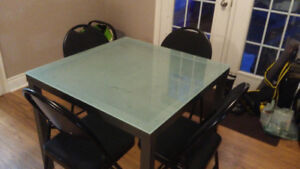 Glass Top Kitchen Table [no chairs]