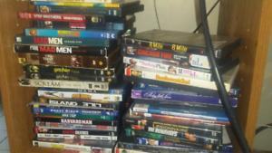Over 70 DVDs TV sets