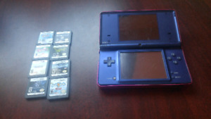 Dsi with 2 games and case obo