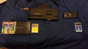 Turbografx 16 game console and ninja spirit