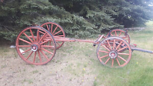 Vintage authentic wood wagon