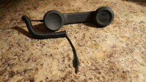 Vintage telephone receiver hands-free attachment