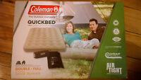 New Coleman double mattress, unopened