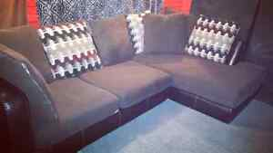 Free delivery brown sectional