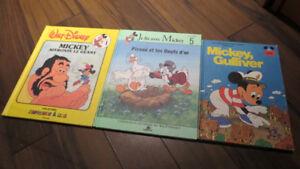 Collection de livres pour enfants Walt Disney Vintage