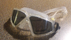 Tinted swimming goggles.
