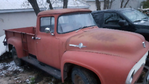 1956 Ford F350 unrestored barn find