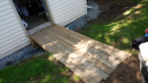 """40 Pieces Ruff Cut Hard Wood 8'x4x3.5"""" Price Includes Delivery"""