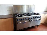 Imperial 10 burner, double oven commercial range