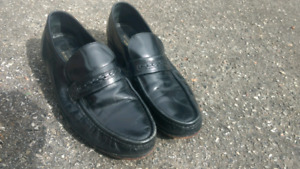 Mens Leather sole dancing shoes 10W