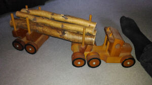 Wooden logging truck & postal truck collectibles OBO