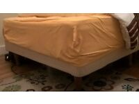 Double Bed: bed base splits into two, double matress included