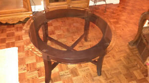Coffee Table Wood/Glass Perfect Condition