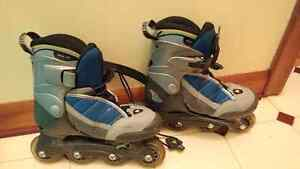 Junior size 31-34 Rollerblades / Rollerskates & guards