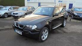 BMW X3 2.0LTR DIESEL SE MANUAL 54reg BLACK WITH BLACK LEATHER 4X4 VGC
