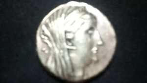 Antique silver coin ARSINOE 2ND 284-247 BC