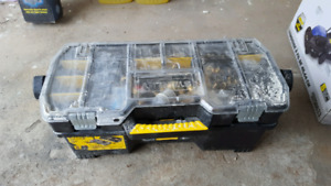 Toolbox with plumbing tools