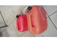 PLASTIC PETROL CANS