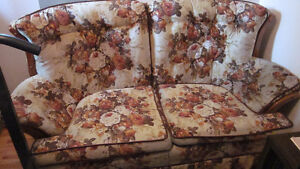 Brown Flower Couch