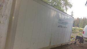 Insulated 26ft truck box for storage