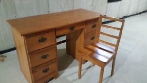 Solid wood desk and chair & rocking chair