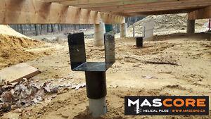 Helical Screw Pile Foundation- No More concrete Posts!