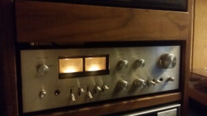 Vintage silver faced Rotel ra 812 integrated amplifier