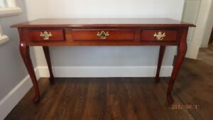 Console Sofa Table, Cherrywood color