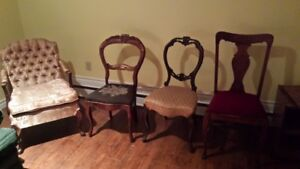 Antique Chairs Assorted