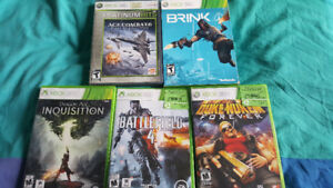 xbox 360 games. 5 for $20 only plus one bonus game.