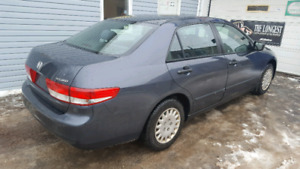 2003 Honda accord safetied with winter tires.