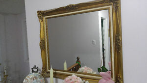 WALL MIRROR WITH A GOLDEN FRAME Peterborough Peterborough Area image 1