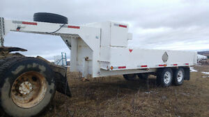 5th wheel trailer, 16 foot deck, cabinets,