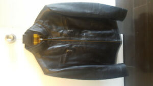 NEW Burberry London Leather Jacket Size Medium/Small - CHEAP