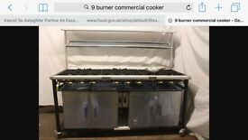 9 burnners cooker