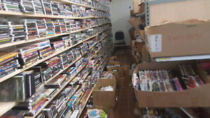 Thousands of DVD'S, CDS and video games for sale!